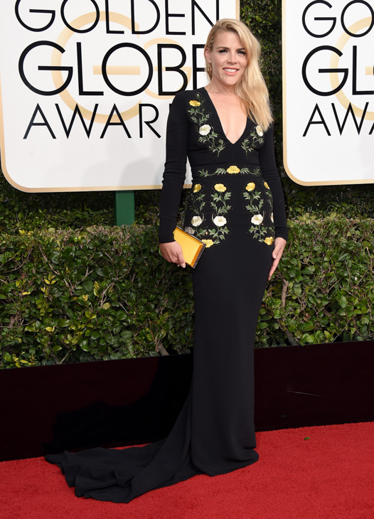 <div class='meta'><div class='origin-logo' data-origin='none'></div><span class='caption-text' data-credit='Jordan Strauss/Invision/AP'>Busy Philipps arrives at the 74th annual Golden Globe Awards at the Beverly Hilton Hotel on Sunday, Jan. 8, 2017, in Beverly Hills, Calif.</span></div>