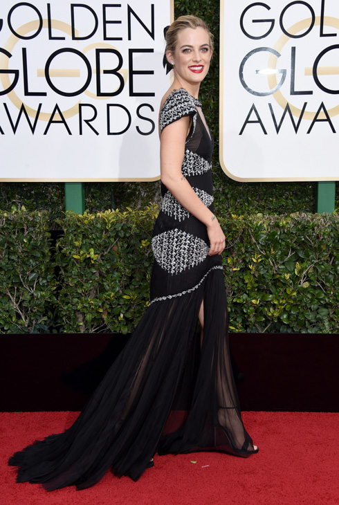 <div class='meta'><div class='origin-logo' data-origin='none'></div><span class='caption-text' data-credit='Jordan Strauss/Invision/AP'>Riley Keough arrives at the 74th annual Golden Globe Awards at the Beverly Hilton Hotel on Sunday, Jan. 8, 2017, in Beverly Hills, Calif.</span></div>