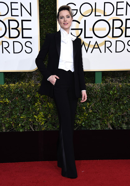 <div class='meta'><div class='origin-logo' data-origin='none'></div><span class='caption-text' data-credit='Jordan Strauss/Invision/AP'>Evan Rachel Wood arrives at the 74th annual Golden Globe Awards at the Beverly Hilton Hotel on Sunday, Jan. 8, 2017, in Beverly Hills, Calif.</span></div>