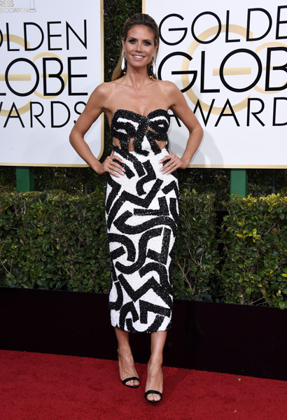 <div class='meta'><div class='origin-logo' data-origin='none'></div><span class='caption-text' data-credit='Jordan Strauss/Invision/AP'>Heidi Klum arrives at the 74th annual Golden Globe Awards at the Beverly Hilton Hotel on Sunday, Jan. 8, 2017, in Beverly Hills, Calif.</span></div>