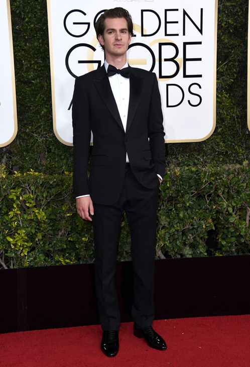 "<div class=""meta image-caption""><div class=""origin-logo origin-image none""><span>none</span></div><span class=""caption-text"">Andrew Garfield arrives at the 74th annual Golden Globe Awards at the Beverly Hilton Hotel on Sunday, Jan. 8, 2017, in Beverly Hills, Calif. (Jordan Strauss/Invision/AP)</span></div>"