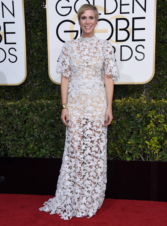 <div class='meta'><div class='origin-logo' data-origin='none'></div><span class='caption-text' data-credit='Jordan Strauss/Invision/AP'>Kristen Wiig arrives at the 74th annual Golden Globe Awards at the Beverly Hilton Hotel on Sunday, Jan. 8, 2017, in Beverly Hills, Calif.</span></div>