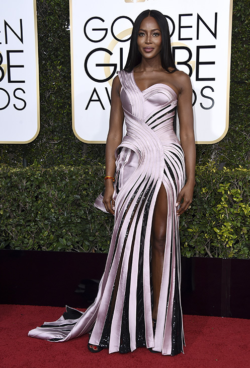 <div class='meta'><div class='origin-logo' data-origin='none'></div><span class='caption-text' data-credit='Jordan Strauss/Invision/AP'>Naomi Campbell arrives at the 74th annual Golden Globe Awards at the Beverly Hilton Hotel on Sunday, Jan. 8, 2017, in Beverly Hills, Calif.</span></div>