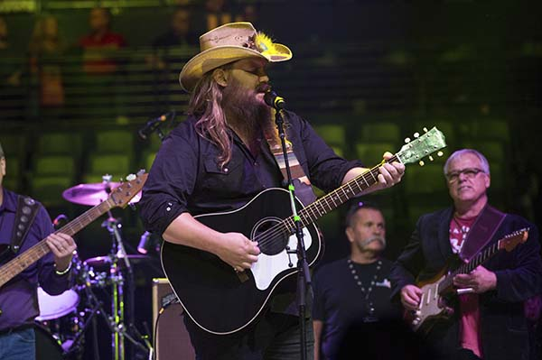 <div class='meta'><div class='origin-logo' data-origin='AP'></div><span class='caption-text' data-credit='Amy Harris/Invision/AP'>Chris Stapleton performs at Charlie Daniels 80th Birthday Volunteer Jam at Bridgestone Arena on Wednesday, Nov, 30, 2016, in Nashville, Tenn.</span></div>