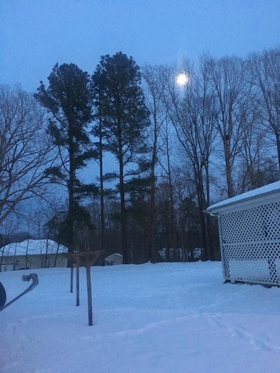 "<div class=""meta image-caption""><div class=""origin-logo origin-image wtvd""><span>WTVD</span></div><span class=""caption-text"">Moonlight snowy view (Yvonne Alston - ABC11 Eyewitness)</span></div>"