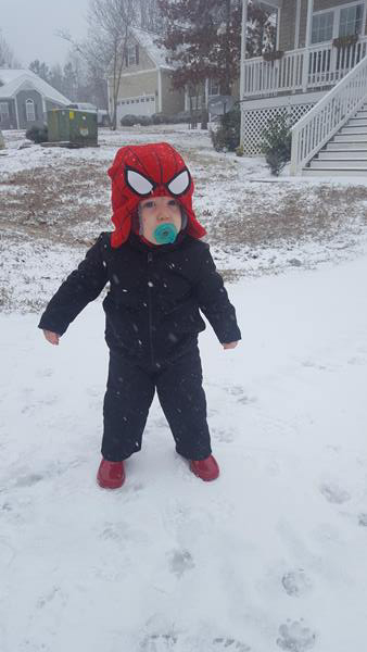 """<div class=""""meta image-caption""""><div class=""""origin-logo origin-image wtvd""""><span>WTVD</span></div><span class=""""caption-text"""">1 year old Easton sees his first snow! (Tiffany Peters - ABC11 Eyewitness)</span></div>"""