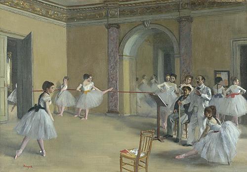 "<div class=""meta image-caption""><div class=""origin-logo origin-image none""><span>none</span></div><span class=""caption-text"">Edgar Degas, Rehearsal Hall at the Opera, Rue Le Peletier, 1872, oil on canvas, Musée d'Orsay, Paris. © RMN-Grand Palais (Musée d'Orsay) / Hervé Lewandowski (Courtesy Museum of Fine Arts, Houstoun)</span></div>"