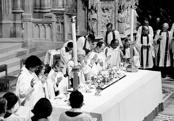 <div class='meta'><div class='origin-logo' data-origin='AP'></div><span class='caption-text' data-credit=''>The Rev. Pauli Murray, third from left, participates in ordination ceremonies in the Washington Cathedral, D.C., Jan. 8, 1977.</span></div>