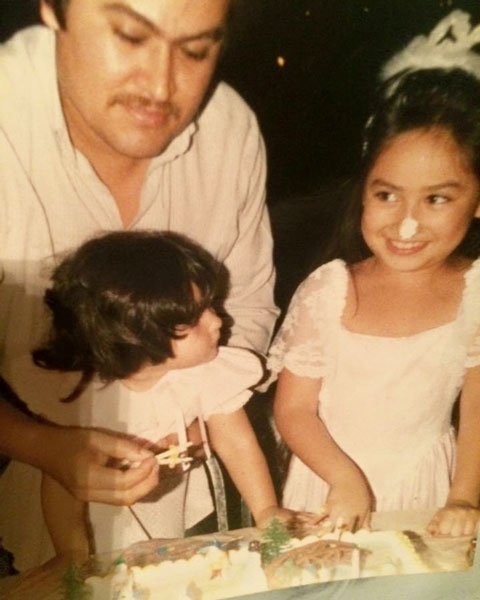 <div class='meta'><div class='origin-logo' data-origin='none'></div><span class='caption-text' data-credit=''>Mayra Moreno celebrates a birthday way back when. So cute!</span></div>