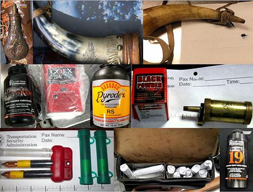 "<div class=""meta image-caption""><div class=""origin-logo origin-image none""><span>none</span></div><span class=""caption-text"">Passengers attempted to travel with hazardous items, including black gun powder. (TSA)</span></div>"
