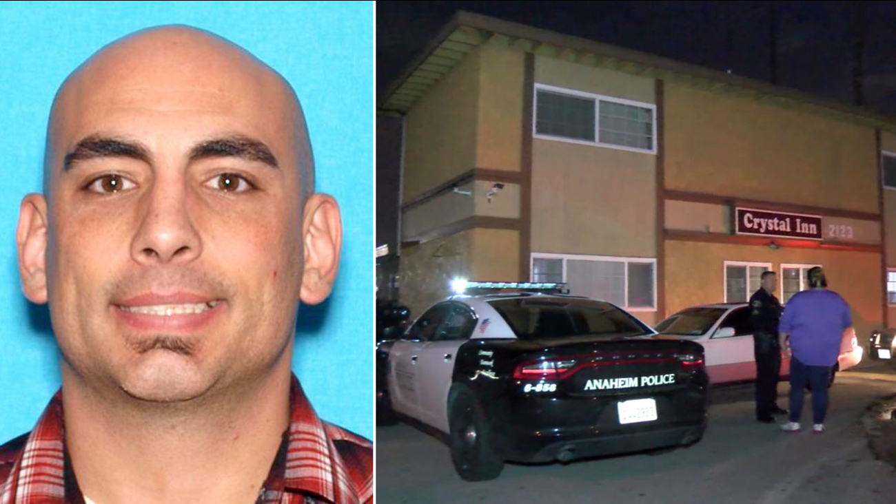 Luke Lampers, 35, is shown in an undated DMV photo alongside an image of the Crystal Inn after he allegedly shot and killed a man on Wednesday, Jan. 11, 2017.