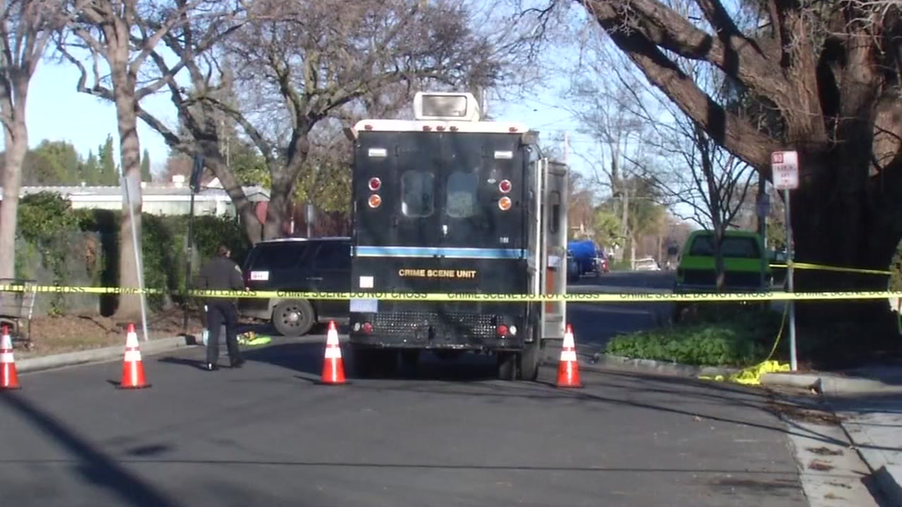 Santa Clara police officers on the scene of an investigation are seen on Friday January 13, 2017.