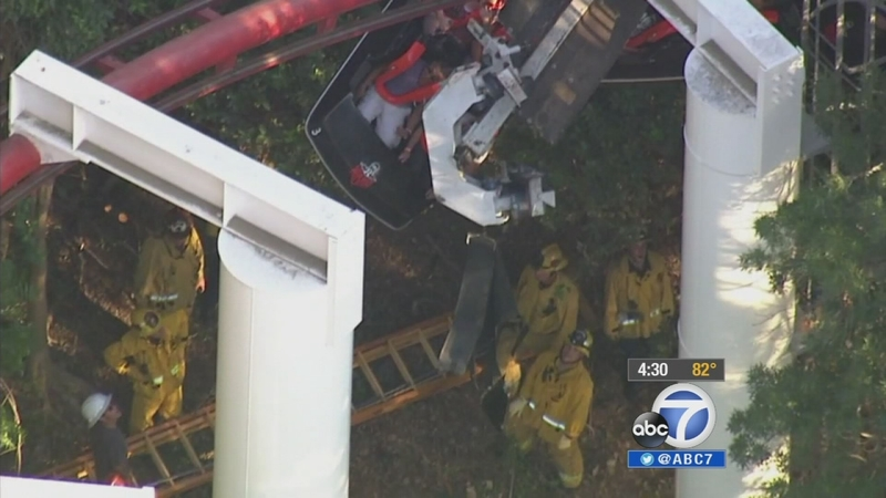Magic Mountain roller-coaster accident: 4 injured