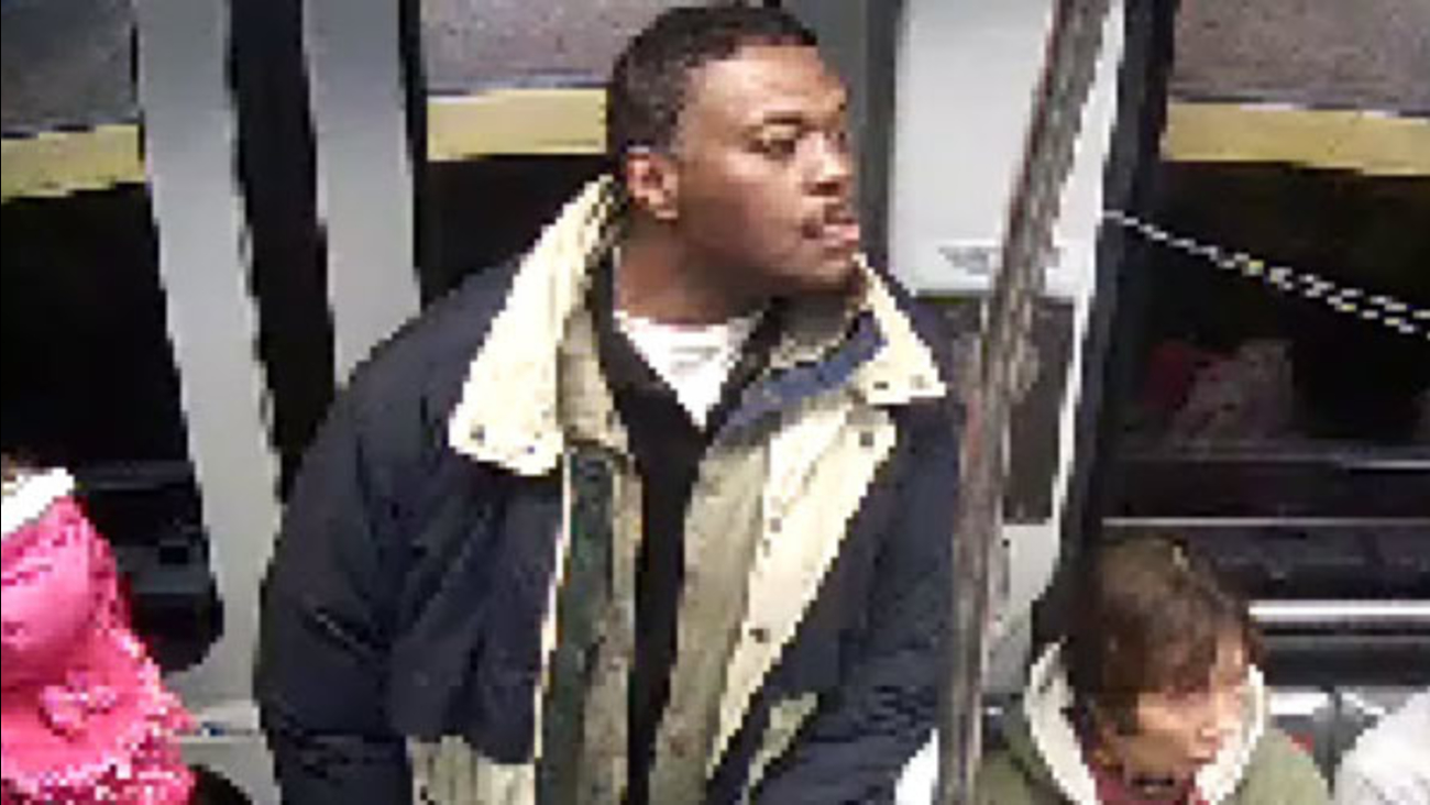 This surveillance image shows a man accused of attacking a person with a machete on BART at the Civic Center station in San Francisco, Calif. on Friday 6, 2017.