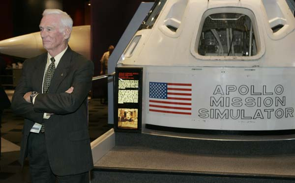<div class='meta'><div class='origin-logo' data-origin='AP'></div><span class='caption-text' data-credit='AP'>Former NASA astronaut and last man to walk on the moon, Gene Cernan, waits for an interview to begin during a news availability. (AP Photo/Sue Ogrocki)</span></div>