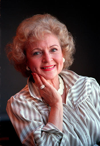 <div class='meta'><div class='origin-logo' data-origin='none'></div><span class='caption-text' data-credit='ASSOCIATED PRESS'>Actress Betty White poses in Los Angeles, Ca. in June, 1986.  (AP Photo/Reed Saxon)</span></div>