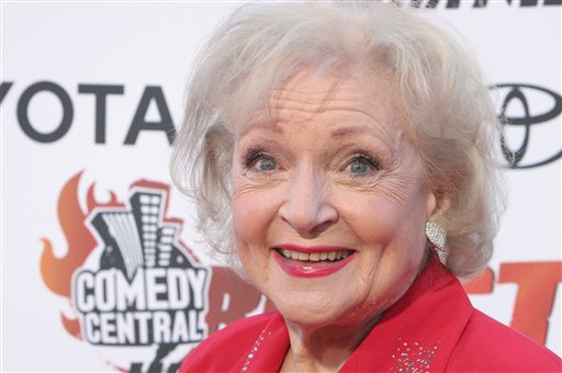 <div class='meta'><div class='origin-logo' data-origin='none'></div><span class='caption-text' data-credit='ASSOCIATED PRESS'>Betty White poses for photographers on the red carpet before Comedy Central's &#34;Roast of William Shatner,&#34; Sunday, Aug. 13, 2006, in Los Angeles. (AP Photo/Rene Macura)</span></div>
