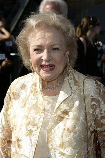 <div class='meta'><div class='origin-logo' data-origin='none'></div><span class='caption-text' data-credit='AP'>Betty White arrives at the 34th Annual Daytime Emmy Awards in Los Angeles, on Friday, June 15, 2007. (AP Photo/Mark J. Terrill)</span></div>