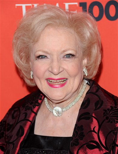 <div class='meta'><div class='origin-logo' data-origin='none'></div><span class='caption-text' data-credit='ASSOCIATED PRESS'>Actress Betty White attends the TIME 100 gala celebrating the 100 most influential people, at the Time Warner Center, Tuesday, May 4, 2010 in New York. (AP Photo/Evan Agostini)</span></div>