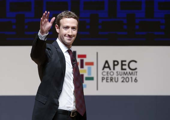 "<div class=""meta image-caption""><div class=""origin-logo origin-image none""><span>none</span></div><span class=""caption-text"">Mark Zuckerberg, chairman and CEO of Facebook, waves at the CEO summit during the annual Asia Pacific Economic Cooperation (APEC) forum in Lima, Peru.(AP Photo/Esteban Felix, file) (AP)</span></div>"