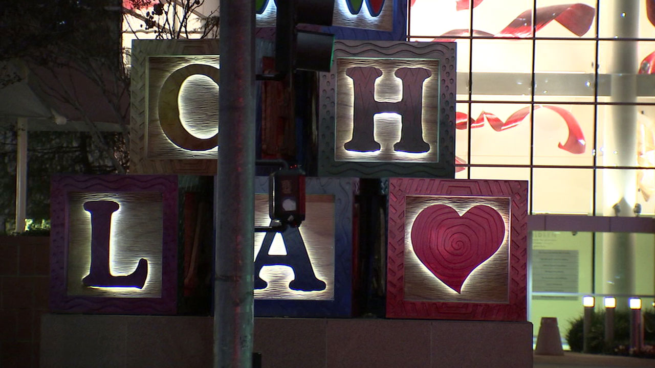 A sign outside of the Children's Hospital Los Angeles is shown in a file photo.
