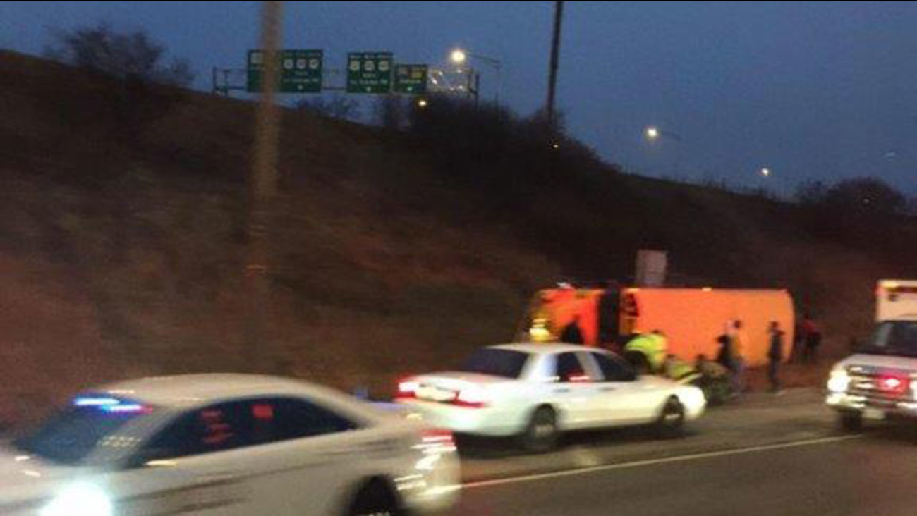 School bus rolls over on I-294 after driver suffers seizure