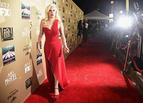 <div class='meta'><div class='origin-logo' data-origin='AP'></div><span class='caption-text' data-credit='Chris Pizzello/Invision/AP'>Lady Gaga arrives at the Los Angeles premiere screening of &#34;American Horror Story: Hotel&#34; at Regal Cinemas L.A. Live on Saturday, Oct. 3, 2015.</span></div>