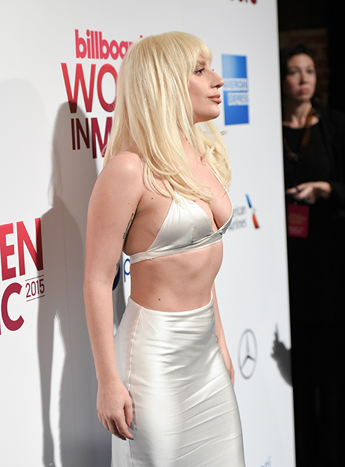 <div class='meta'><div class='origin-logo' data-origin='AP'></div><span class='caption-text' data-credit='Evan Agostini/Invision/AP'>Billboard &#34;Woman of the Year&#34; honoree Lady Gaga attends the 2015 Billboard Women in Music honors at Cipriani 42nd Street on Friday, Dec. 11, 2015, in New York.</span></div>