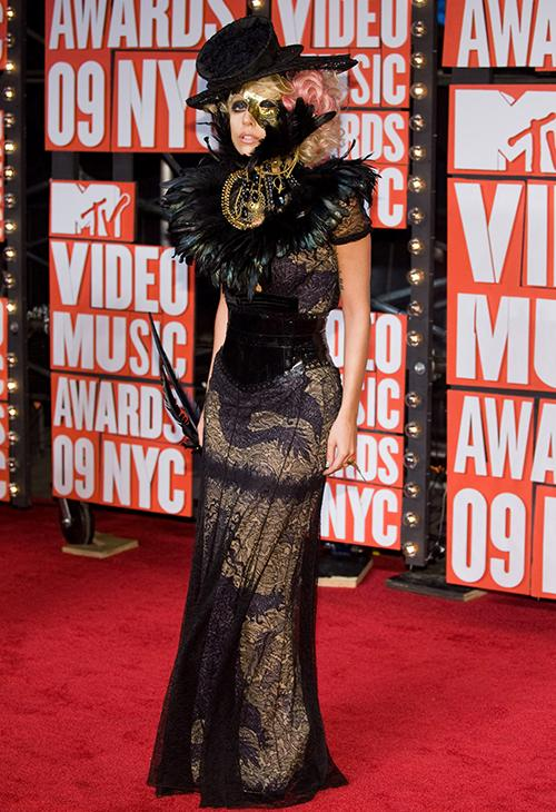 <div class='meta'><div class='origin-logo' data-origin='AP'></div><span class='caption-text' data-credit='AP Photo/Charles Sykes'>Lady Gaga arrives at the MTV Video Music Awards on Sunday, Sept. 13, 2009 in New York.</span></div>