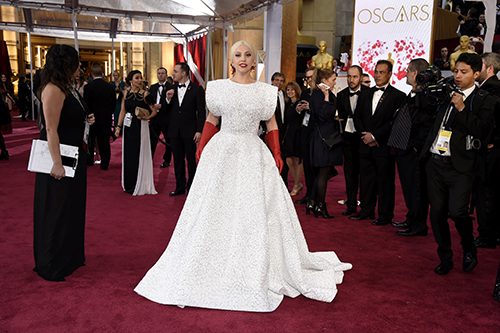 <div class='meta'><div class='origin-logo' data-origin='AP'></div><span class='caption-text' data-credit='Chris Pizzello/Invision/AP'>Lady Gaga arrives at the Oscars on Sunday, Feb. 22, 2015, at the Dolby Theatre in Los Angeles.</span></div>