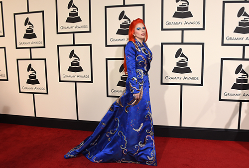 <div class='meta'><div class='origin-logo' data-origin='AP'></div><span class='caption-text' data-credit='Jordan Strauss/Invision/AP'>Lady Gaga arrives at the 58th annual Grammy Awards at the Staples Center on Monday, Feb. 15, 2016, in Los Angeles.</span></div>