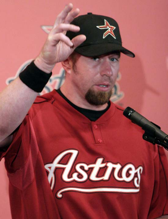<div class='meta'><div class='origin-logo' data-origin='AP'></div><span class='caption-text' data-credit='Pat Sullivan'>Houston Astros Jeff Bagwell talks about the shoulder surgery he will have in June during a press conference  Sunday, May 15, 2005, in Houston.</span></div>