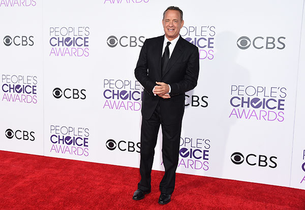 """<div class=""""meta image-caption""""><div class=""""origin-logo origin-image none""""><span>none</span></div><span class=""""caption-text"""">Tom Hanks arrives at the People's Choice Awards at the Microsoft Theater on Wednesday, Jan. 18, 2017, in Los Angeles. (Jordan Strauss/Invision/AP)</span></div>"""