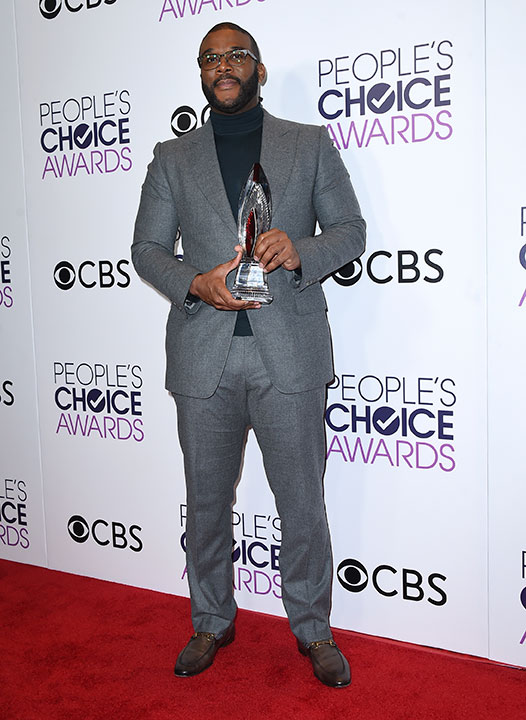 """<div class=""""meta image-caption""""><div class=""""origin-logo origin-image none""""><span>none</span></div><span class=""""caption-text"""">Tyler Perry poses in the press room with the award for favorite humanitarian at the People's Choice Awards at the Microsoft Theater on Wednesday, Jan. 18, 2017. (Jordan Strauss/Invision/AP)</span></div>"""