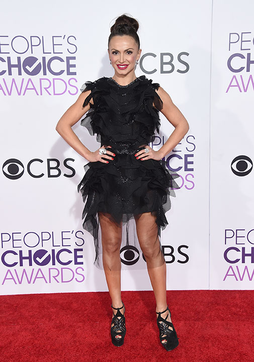 """<div class=""""meta image-caption""""><div class=""""origin-logo origin-image none""""><span>none</span></div><span class=""""caption-text"""">Karina Smirnoff arrives at the People's Choice Awards at the Microsoft Theater on Wednesday, Jan. 18, 2017, in Los Angeles. (Jordan Strauss/Invision/AP)</span></div>"""
