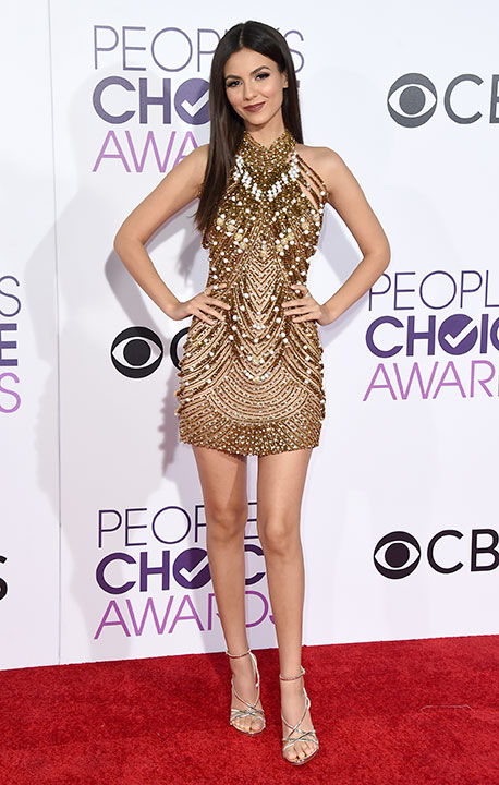 """<div class=""""meta image-caption""""><div class=""""origin-logo origin-image none""""><span>none</span></div><span class=""""caption-text"""">Victoria Justice arrives at the People's Choice Awards at the Microsoft Theater on Wednesday, Jan. 18, 2017, in Los Angeles. (Jordan Strauss/Invision/AP)</span></div>"""