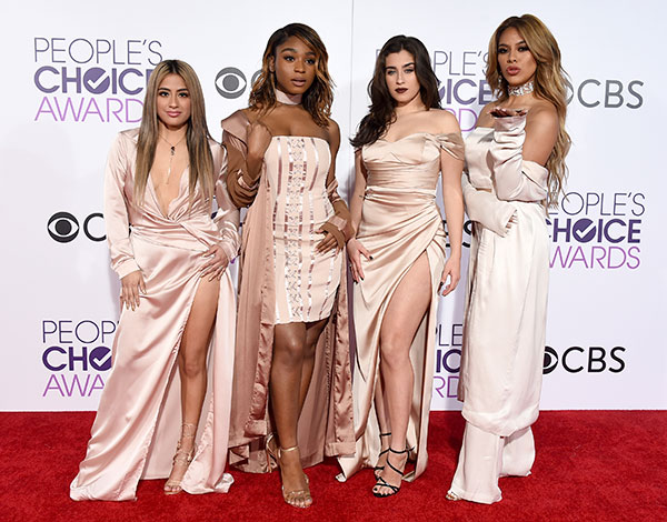 """<div class=""""meta image-caption""""><div class=""""origin-logo origin-image none""""><span>none</span></div><span class=""""caption-text"""">Ally Brooke, from left, Normani Kordei, Lauren Jauregui, and Dinah Jane of the musical group Fifth Harmony arrive. (Jordan Strauss/Invision/AP)</span></div>"""