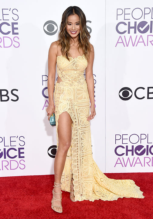 """<div class=""""meta image-caption""""><div class=""""origin-logo origin-image none""""><span>none</span></div><span class=""""caption-text"""">Jamie Chung arrives at the People's Choice Awards at the Microsoft Theater on Wednesday, Jan. 18, 2017, in Los Angeles. (Jordan Strauss/Invision/AP)</span></div>"""
