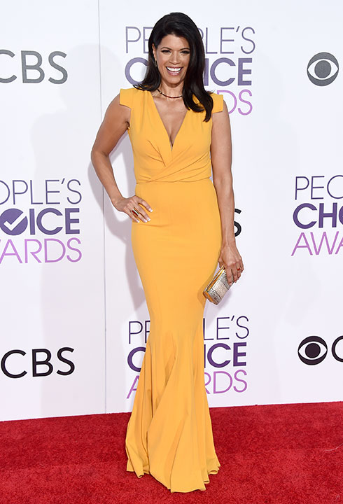 """<div class=""""meta image-caption""""><div class=""""origin-logo origin-image none""""><span>none</span></div><span class=""""caption-text"""">Andrea Navedo arrives at the People's Choice Awards at the Microsoft Theater on Wednesday, Jan. 18, 2017, in Los Angeles. (Jordan Strauss/Invision/AP)</span></div>"""