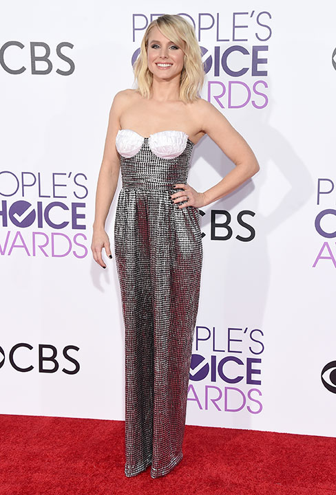 """<div class=""""meta image-caption""""><div class=""""origin-logo origin-image none""""><span>none</span></div><span class=""""caption-text"""">Kristen Bell arrives at the People's Choice Awards at the Microsoft Theater on Wednesday, Jan. 18, 2017, in Los Angeles. (Jordan Strauss/Invision/AP)</span></div>"""