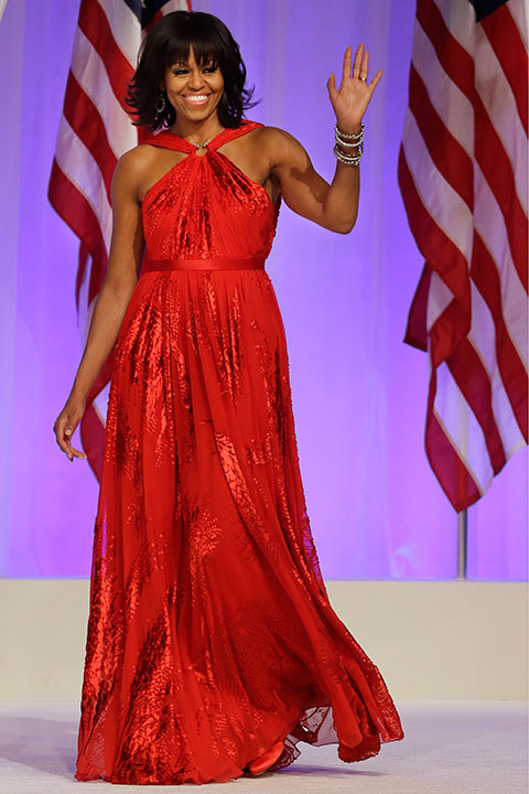 "<div class=""meta image-caption""><div class=""origin-logo origin-image none""><span>none</span></div><span class=""caption-text"">First lady Michelle Obama arrives at the Commander-in-Chief's Inaugural Ball in Washington on Monday, Jan. 21, 2013. (Jacquelyn Martin/AP Photo)</span></div>"