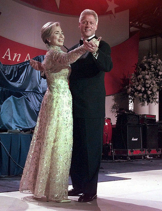 "<div class=""meta image-caption""><div class=""origin-logo origin-image none""><span>none</span></div><span class=""caption-text"">President Clinton and his wife, first lady Hillary Clinton, dance at the New England Ball Monday, Jan. 20, 1997, in Washington. (J. Scott Applewhite/AP Photo)</span></div>"