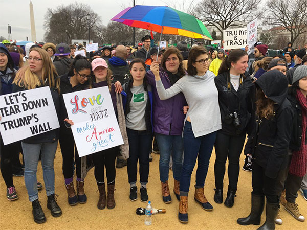 "<div class=""meta image-caption""><div class=""origin-logo origin-image none""><span>none</span></div><span class=""caption-text"">Mike Carter-Conneen of ABC captioned this, ''Among the protesters, many GWU students - some openly weeping. #Inauguration.'' (ABC7Mike/Twitter)</span></div>"
