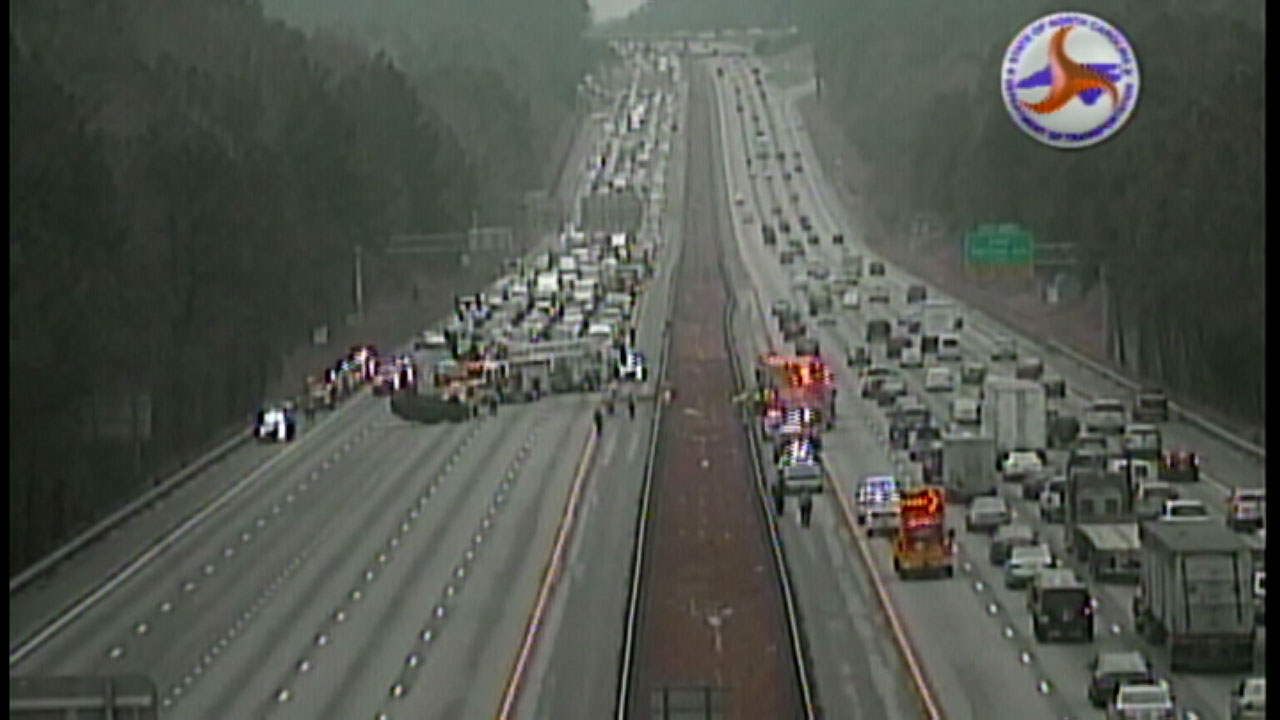 I-40 in Wake County near Harrison Avenue exit
