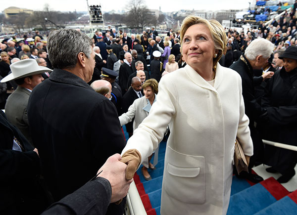 <div class='meta'><div class='origin-logo' data-origin='none'></div><span class='caption-text' data-credit='AFP PHOTO / POOL / SAUL LOEB'>Former US presidential candidate Hillary Clinton leaves after the Presidential Inauguration at the US Capitol in Washington, DC, on January 20, 2017.</span></div>
