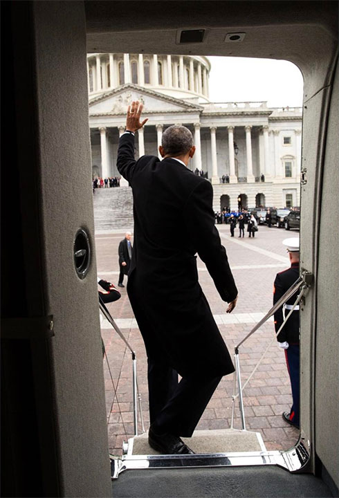<div class='meta'><div class='origin-logo' data-origin='none'></div><span class='caption-text' data-credit='Pete Souza/Instagram'>Pete Souza captioned this, ''President Obama waves from the steps of Executive One helicopter following the inauguration of Donald Trump at the U.S. Capitol.''</span></div>