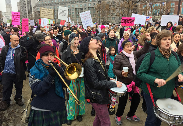 "<div class=""meta image-caption""><div class=""origin-logo origin-image none""><span>none</span></div><span class=""caption-text"">Protesters gather for the Women's March on Philadelphia a day after Republican Donald Trump's inauguration as president, Saturday, Jan. 21, 2017 in Philadelphia. (Jacqueline Larma/AP Photo)</span></div>"