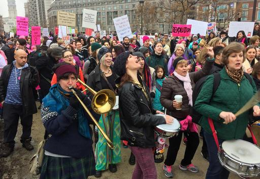 <div class='meta'><div class='origin-logo' data-origin='none'></div><span class='caption-text' data-credit='AP'>Women's March on Philadelphia held Saturday Jan. 21, 2017. (AP Photo/Jacqueline Larma)</span></div>