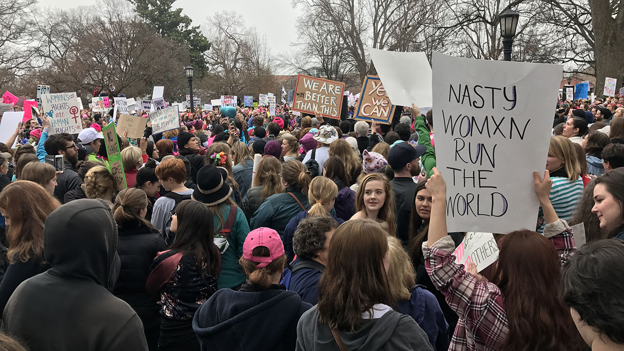 Thousands descend on downtown Raleigh to participate in the Women's March