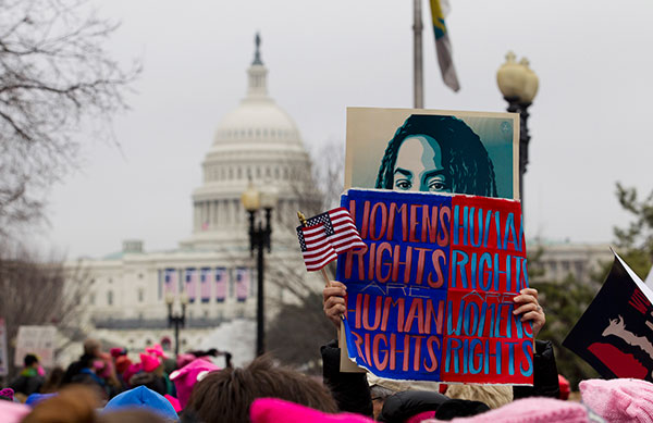 <div class='meta'><div class='origin-logo' data-origin='none'></div><span class='caption-text' data-credit='Jose Luis Magana/AP Photo'>Women rally at Capitol Hill as they make their voices heard on the first full day of Donald Trump's presidency, Saturday, Jan. 21, 2017.</span></div>